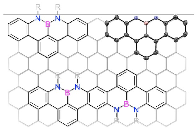 Synthesis of NBN-type Zigzag-Edged Polycyclic Aromatic Hydrocarbons: 1,9-Diaza-9a-boraphenalene as a Structural Motif
